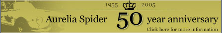 Aurelia Spider 50 year anniversary - Click here for the special events