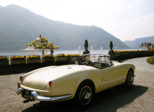 Aurelia spider at the Concours d'elegance in Villa d'Este (Italy)